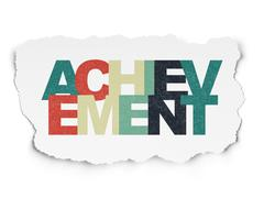 Learning concept: Achievement on Torn Paper background - stock illustration