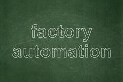 Industry concept: Factory Automation on chalkboard background - stock illustration