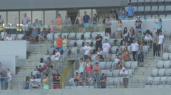 WSupporters watching the game on Cluj Arena, Cluj-Napoca Stock Footage