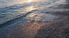 Sunset on the beach Stock Footage