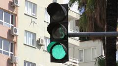 Stock Video Footage of Traffic Light Countdown