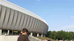 WThe modern Cluj Arena in Cluj-Napoca Stock Footage