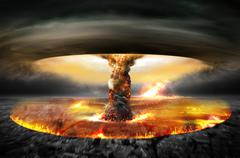 Nuclear Atomic War Stock Illustration