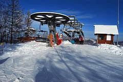 chairlift top station  - stock photo
