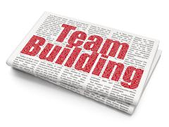 Business concept: Team Building on Newspaper background Stock Illustration