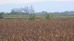 Grain silos Stock Footage