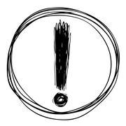 exclamation mark - stock illustration