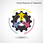 Human resource and business & industrial propulsion concept. - stock illustration