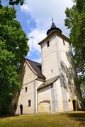 St Anna Church, a late gothic church in Libinske Sedlo in South Bohemia in Cz - stock photo