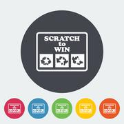 Stock Illustration of Scratch card