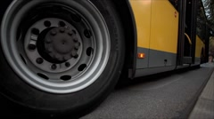 Bus Leaving - stock footage