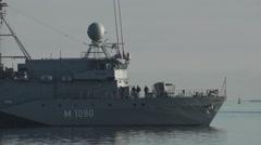 Navy Vessel German Bundeswehr 2 Stock Footage