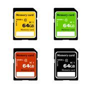 memory card - stock illustration