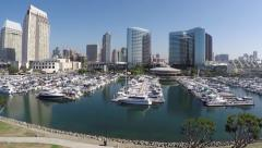 San Diego Skyline - Aerial Reveal Stock Footage