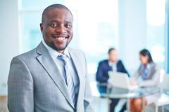 Happy employer Stock Photos