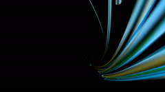 blue optical fiber - stock footage