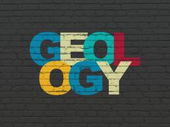 Stock Illustration of Science concept: Geology on wall background