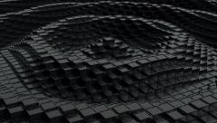 Black shiny cubic surface in motion. Stock Footage
