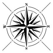 Compass rose isolated on white. Stock Illustration