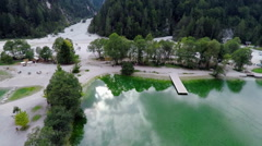 Fascinating lake in the mountain resort Stock Footage