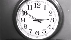 Wall Clock Time-Lapse Stock Footage