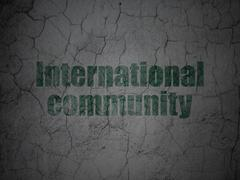 Stock Illustration of Politics concept: International Community on grunge wall background