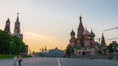Walking towards the Red square in Moscow Stock Footage
