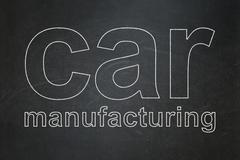 Industry concept: Car Manufacturing on chalkboard background Piirros