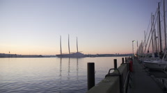 White Pearl Sunrise testing. Stock Footage