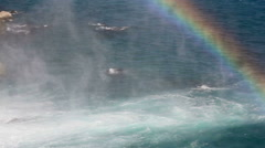 Sea and Rainbow - stock footage