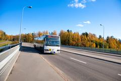 Public transportation in Helsinki, Finland - stock photo