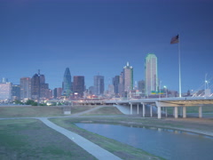 Dallas Skyline Stock Footage