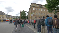 People gathered at CSD – Christopher Street Day, Stuttgart Stock Footage
