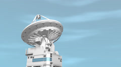 Radio telescope, communication, signal, system, giant disk. Stock Footage