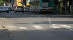 WGeorge Cosbuc Street in Cluj-Napoca Stock Footage