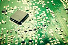 Integrated circuit - stock photo