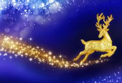 Christmas fantasy with golden reindeer Kuvituskuvat