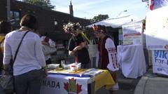 Bloor West Village Ukrainian Festival 2015 Toronto Stock Footage