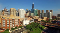 Aerial Illinois Chicago - stock footage
