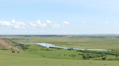 Picturesque scenery of Hulunbuir Prairie Stock Footage