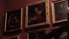 Gallery of famous paintings. Stock Footage