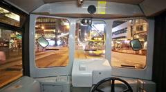 Hong Kong tramway Stock Footage