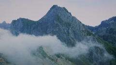 Clouds in the Pyrenees Mountains - Col du Tourmalet - stock footage