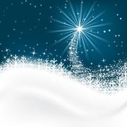 Snow vector background with snowflakes, Merry Christmas greetings. Stock Illustration