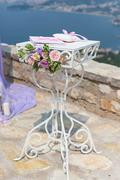 Table for wedding ceremony Stock Photos