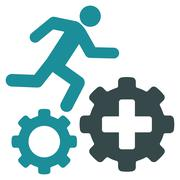 Stock Illustration of Treatment Process Icon
