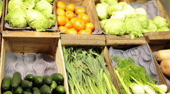 View of Greengrocery Stock Footage