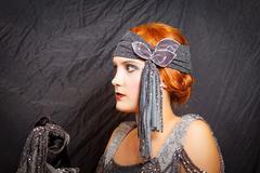 Flapper girl - stock photo