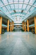 The Interior of Building Of National Library Of Belarus In Minsk - stock photo
