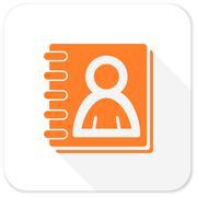 address book flat icon - stock illustration